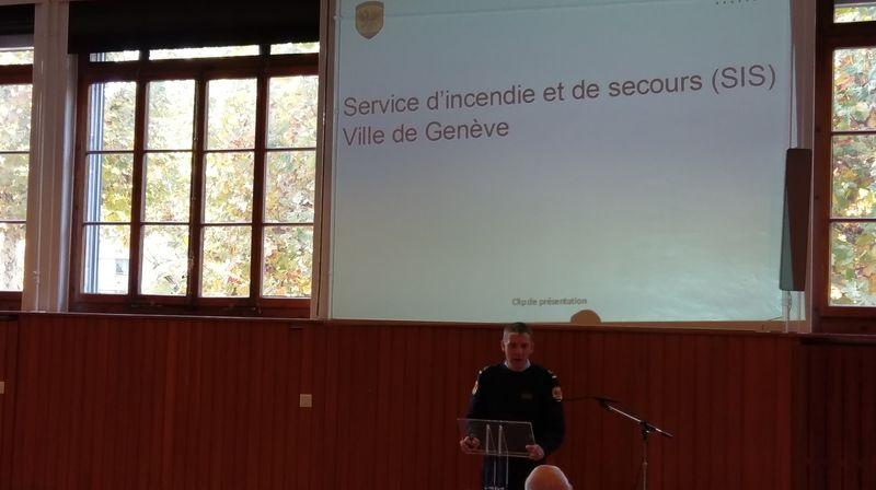 Conférence sécurité par le major Schumacher du SIS