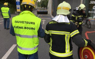 Exercice pompiers – sauveteurs / repas sauveteurs Juin 2018